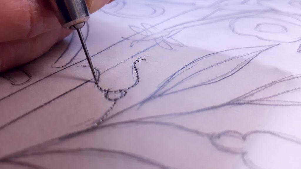 Calques trouées illustrations motifs céramiques