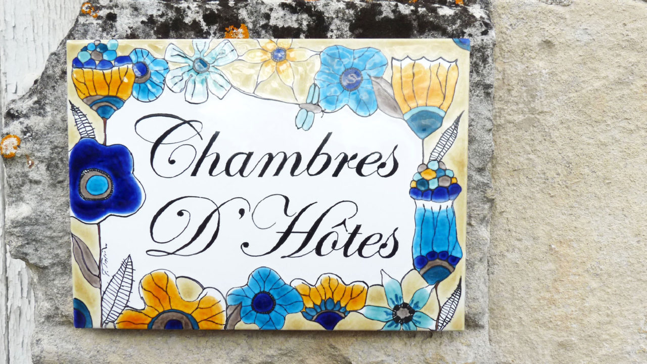 plaque céramique chambre d'hôtes